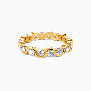 18K Gold The Beauty of Life Wedding Eternity Bands