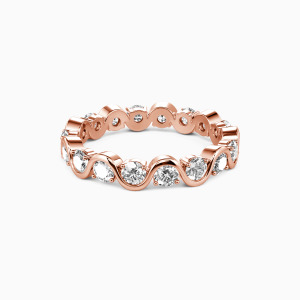 18K Rose Gold The Beauty of Life Wedding Eternity Bands