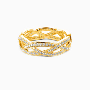 10K Gold Light In The Darkness Wedding Eternity Bands