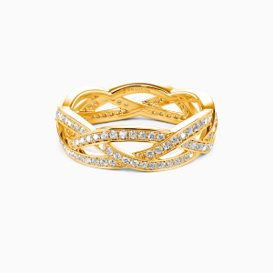 14K Gold Light In The Darkness Wedding Eternity Bands