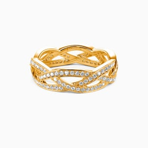 18K Gold Light In The Darkness Wedding Eternity Bands