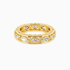 10K Gold Happy Beginning Wedding Eternity Bands