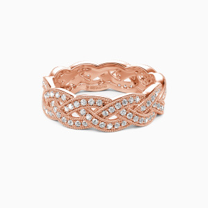 14K Rose Gold  Fallin' All In You Wedding Eternity Bands