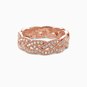 18K Rose Gold  Fallin' All In You Wedding Eternity Bands