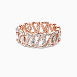 14K Rose Gold My Treasure Wedding Eternity Bands