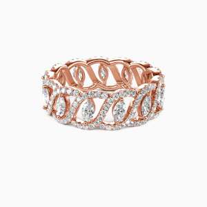 18K Rose Gold My Treasure Wedding Eternity Bands