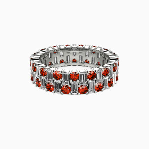 10K White Gold Forever Love Wedding Eternity Bands