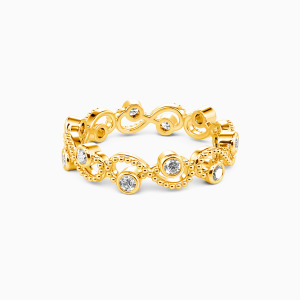 10K Gold  Because of You Wedding Eternity Bands