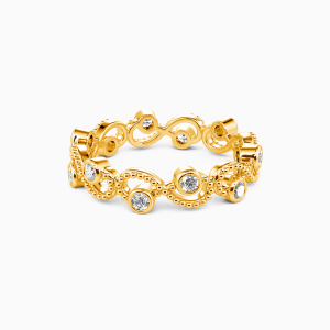 14K Gold  Because of You Wedding Eternity Bands