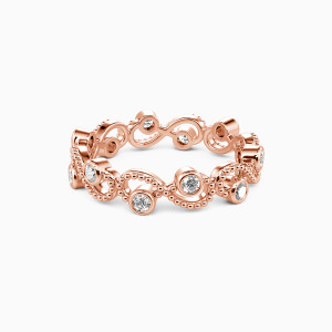 14K Rose Gold  Because of You Wedding Eternity Bands