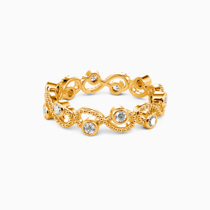 18K Gold  Because of You Wedding Eternity Bands