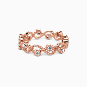 18K Rose Gold  Because of You Wedding Eternity Bands