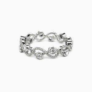 18K White Gold  Because of You Wedding Eternity Bands
