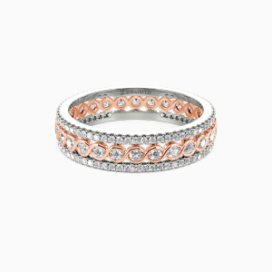 10K Rose Gold Always There For You Wedding Eternity Bands