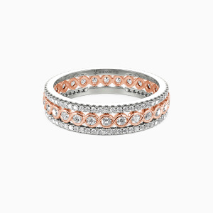 14K Rose Gold Always There For You Wedding Eternity Bands