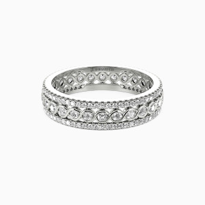 14K White Gold Always There For You Wedding Eternity Bands