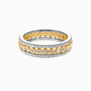 18K Gold Always There For You Wedding Eternity Bands