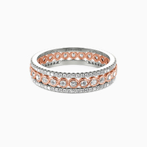 18K Rose Gold Always There For You Wedding Eternity Bands