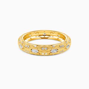10K Gold Love Is Love Wedding Eternity Bands