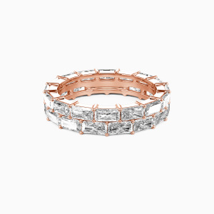 14K Rose Gold Ever Ours Wedding Eternity Bands