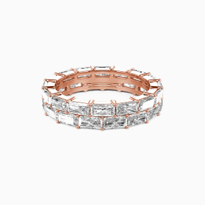 18K Rose Gold Ever Ours Wedding Eternity Bands