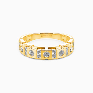 10K Gold You And Me Wedding Men's Bands