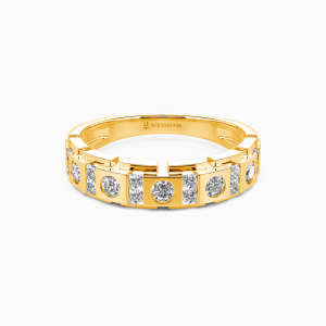 14K Gold You And Me Wedding Men's Bands