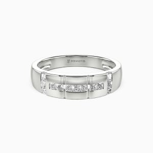 10K White Gold My Galaxy Wedding Men's Bands