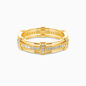 10K Gold Love Knot Wedding Men's Bands