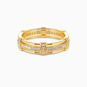 14K Gold Love Knot Wedding Men's Bands
