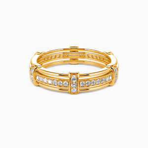 18K Gold Love Knot Wedding Men's Bands