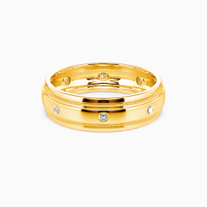 10K Gold You And Gentleness Wedding Men's Bands