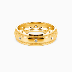 14K Gold You And Gentleness Wedding Men's Bands