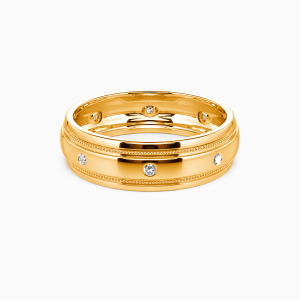 18K Gold You And Gentleness Wedding Men's Bands