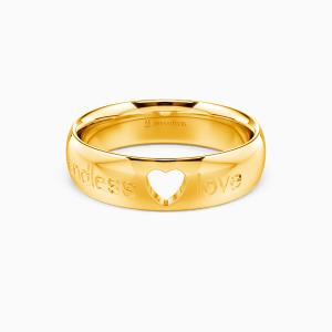 10K Gold Endless Love Wedding Men's Bands