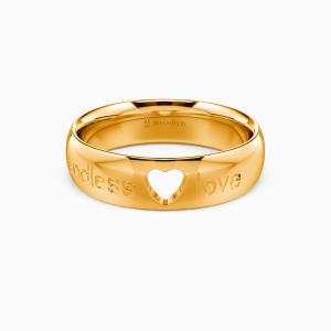 18K Gold Endless Love Wedding Men's Bands
