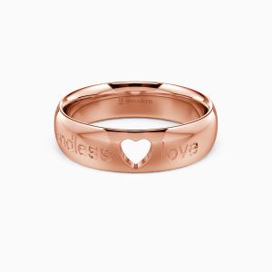 18K Rose Gold Endless Love Wedding Men's Bands