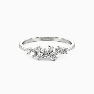 10K White Gold Forever Jewelry Rings