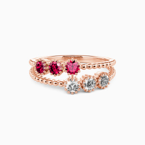 10K Rose Gold Love Jewelry Rings