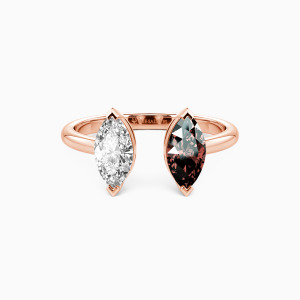 10K Rose Gold You're Not Alone Jewelry Rings