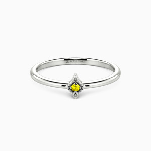 10K White Gold Love at First Sight Jewelry Rings