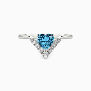 10K White Gold Sweetheart Jewelry Rings