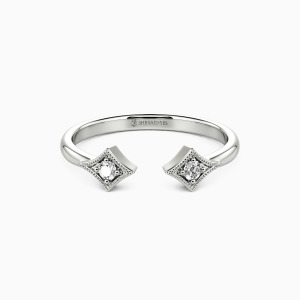 10K White Gold You and I Jewelry Rings